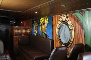 Brothers Grimm bus interior & exterior design