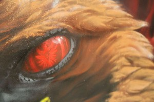 Unique Mascot Canvas, UF97, Close Up Detail