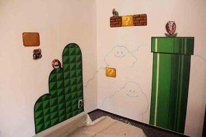 Super Mario Bros, Interior. Kids Room.