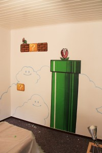 Super Mario Bros, Interior. Kids Room.