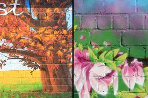 Four Seasons hotel exterior wall murals
