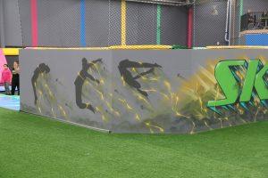 Airborn trampoline park graffiti