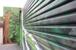 Rainforest photorealism graffiti