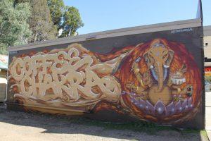 Coffee Chakra graffiti street art