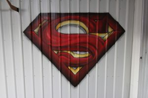 Superman logo graffiti