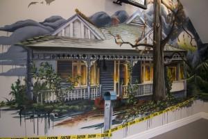 Haunted House, Interior Custom Mural