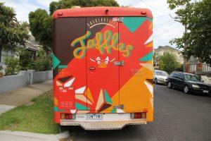 Graffiti on a food truck