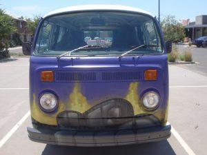 Graffiti on a van