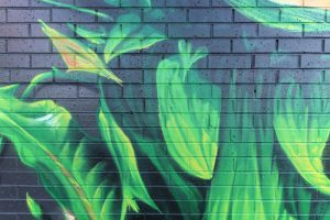 Graffiti of Audrey from Little Shop of Horrors