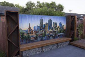 Melbourne horizon graffiti mural