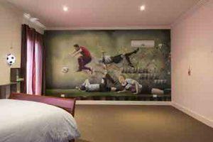 C. Ronaldo Graffiti Kids Room