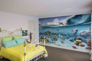 Underwater Kids Bedroom Interior