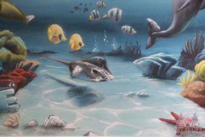 Underwater Kids Bedroom Interior