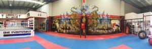 Muay Thai Gym Interior Mural