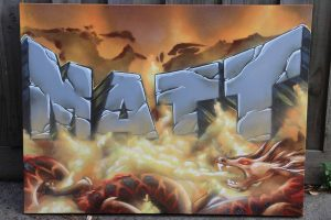 custom name canvas matt