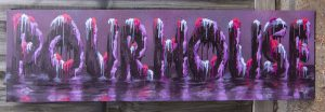 Pour House - Canvas Lettering Custom