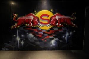 Savoy x F1 Red Bull Party Graffiti