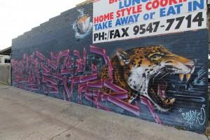Abstract Graffiti Tron