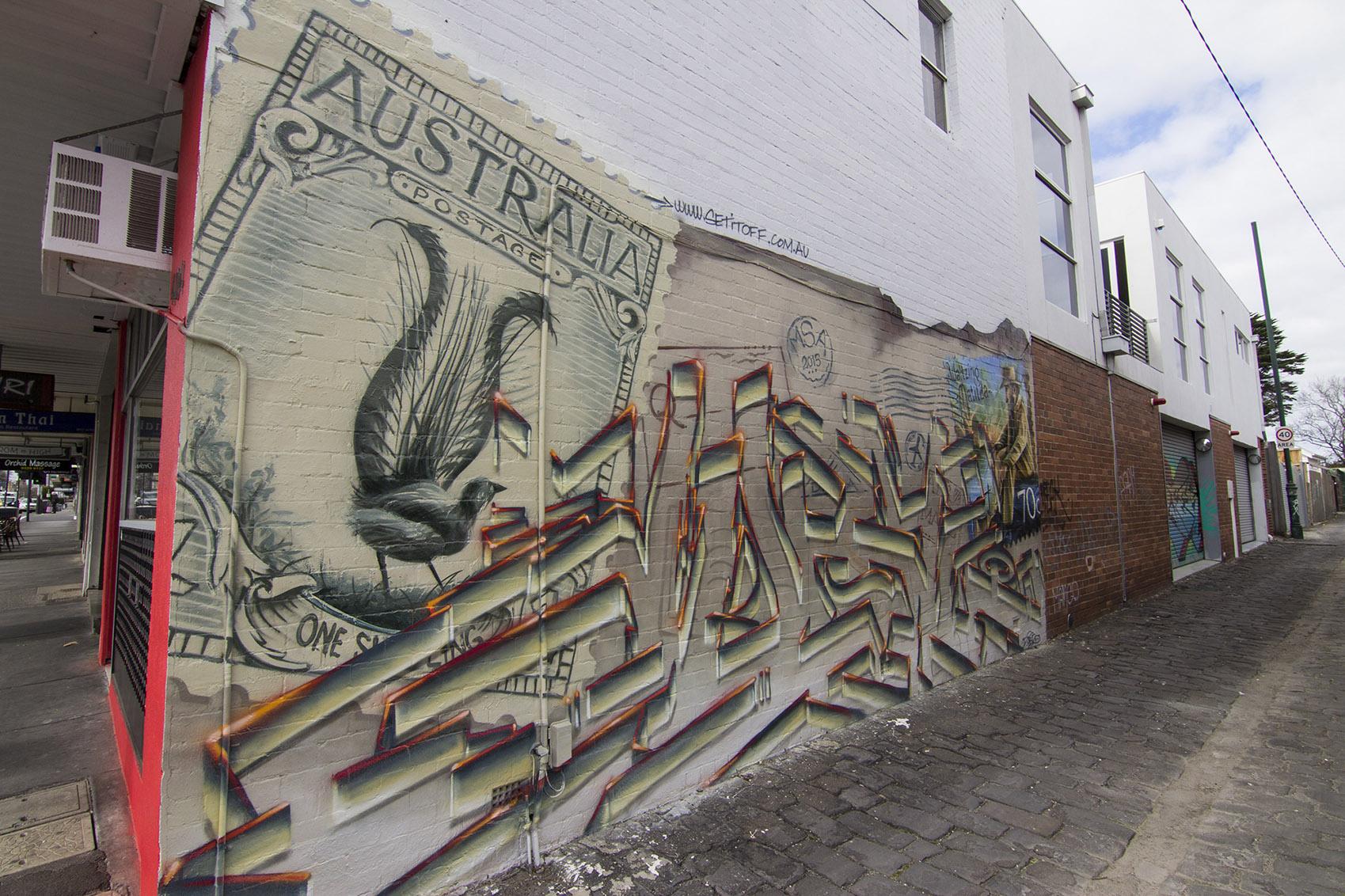 Graffiti mural for the Australia Post