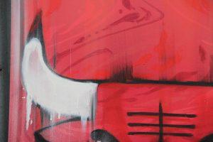 Chicago Bulls graffiti on a canvas