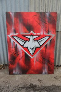 Football Club Essendon Graffiti Canvas