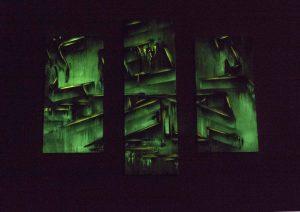 A graffiti canvas that glows in the dark