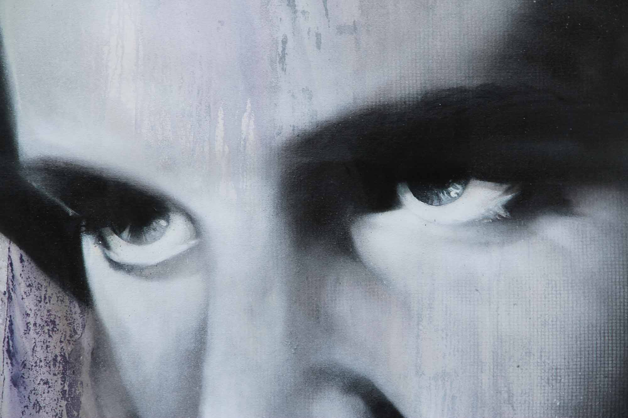 Mural portrait of Elvis Presley on canvas