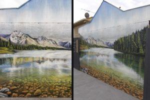 landscape graffiti mural