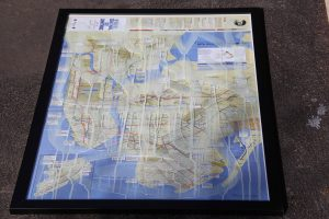 NYC multi-dimensional art piece combining print, urban art and the frame itself