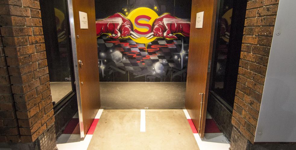 Red Bull x F1 graffiti mural