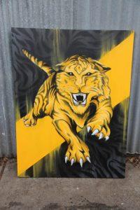 Richmond tigers graffiti art on canvas