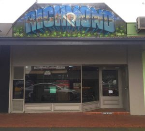 Graffiti designed store front name