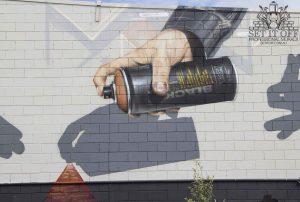 Shadow Puppets Graffiti Mural