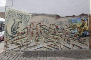 Australia Post Graffiti Art Mural