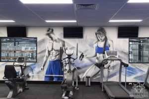 Gym Interior Graffiti Mural