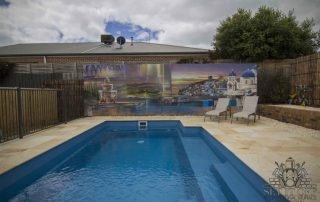 Mediterranean Theme Pool Wall Art