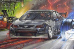 street care race graffiti mural