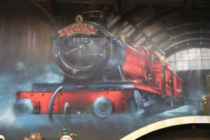 Harry Potter Mecca spray painted graffiti interior design.