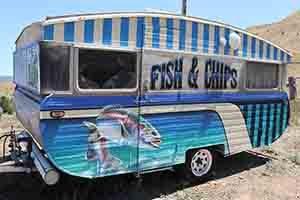 Vintage Fish N Chips Trailer