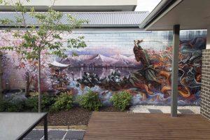 Samurai Mural