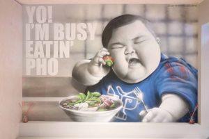 Yo I'm Busy Eating Pho Meme Street Art