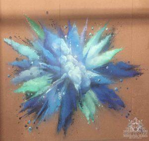 FFF Tv Set Design Backdrop Graffiti