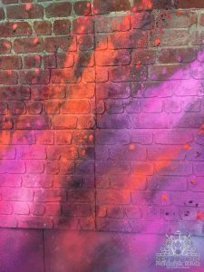 Graffiti of a colorful explosion effect
