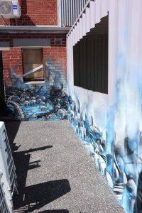 Graveyard graffiti wall