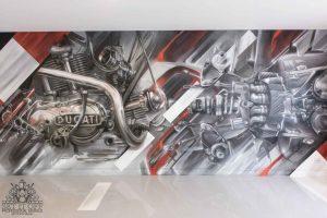 Garage Interior Mural with Floor