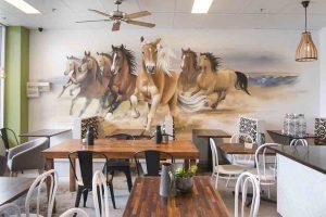 Horse Street Art Interior Mural