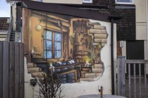 Depot Trompe L'oeil Architectural Mural-front-closeup6