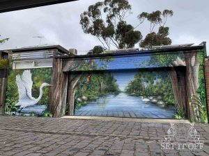Elwood Canal Mural