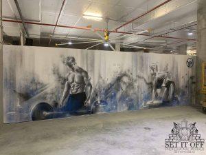 Gym Interior Wall Murals