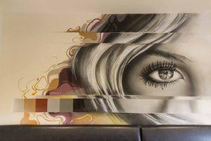 Aura Cafe Interior Wall Mural